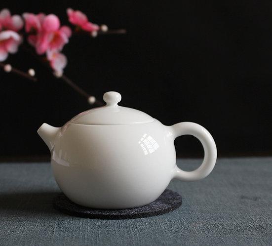Jade White Xishi Teapot