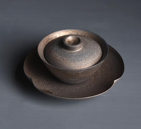 Gold Metallic Glaze Gaiwan (120ml)