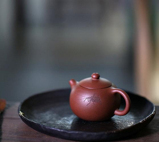 Yixing Zisha Base Clay Grass Hopper Mini Xishi Teapot (100ml)