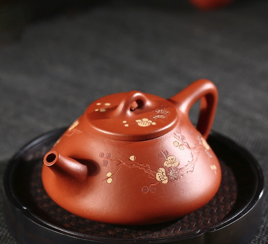 Yixing Zisha Zhu Clay Plum Blossom Zi Piao Teapot (180ml)