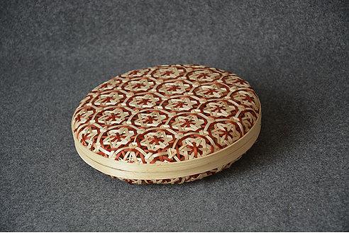 Peony Pattern Bamboo Puerh Cake Case