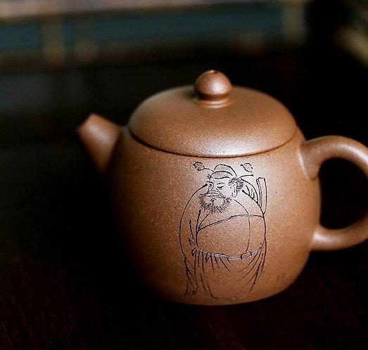 Yixing Zisha Aged Fault Clay Ancient Ghost Buster Mantan Teapot (120ml)