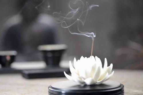 Snow White Lotus Incense Holders