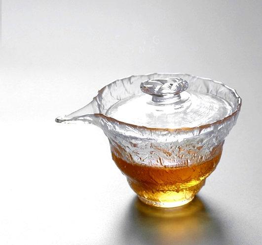 Cracked Ice Glass Gaiwan