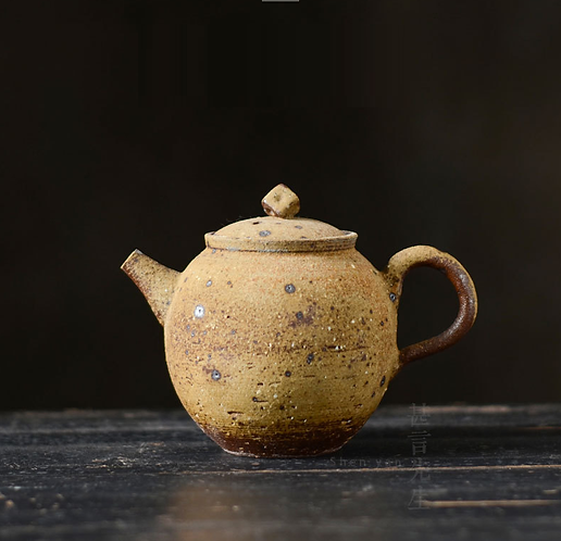 Woodfired Natural Old Rock Coarse Clay Banana Teapot (200ml)