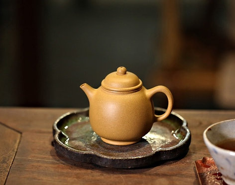 Yixing Zisha Golden Fault Clay Mini Dragon Pearl Teapot (115ml)
