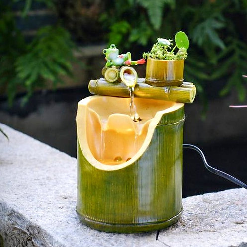 Bamboo Water Fall Fountain (Include Shipping for Bulky Item)