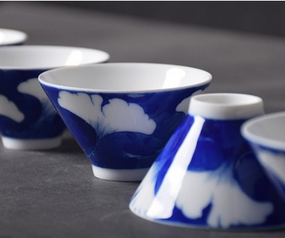 Qinghua Blue Ginkgo Teacup