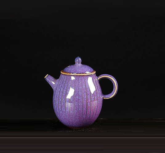 Purple Allium Fruit Teapot