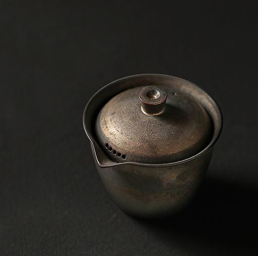 Metallic Glaze Coarse Clay Gaiwan