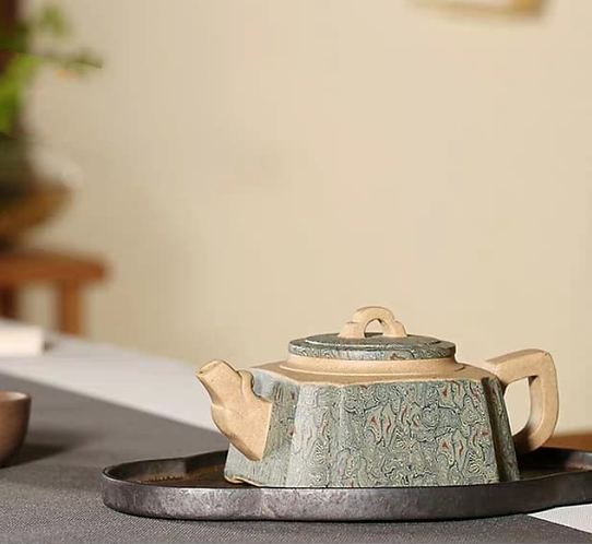 Yixing Zisha Aged Blended Fault Clay Tank Teapot (230ml)