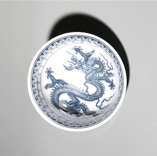 Dragon in Cloud Qinghua Teacups