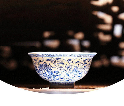 Qinghua Imperial Garden Teacup