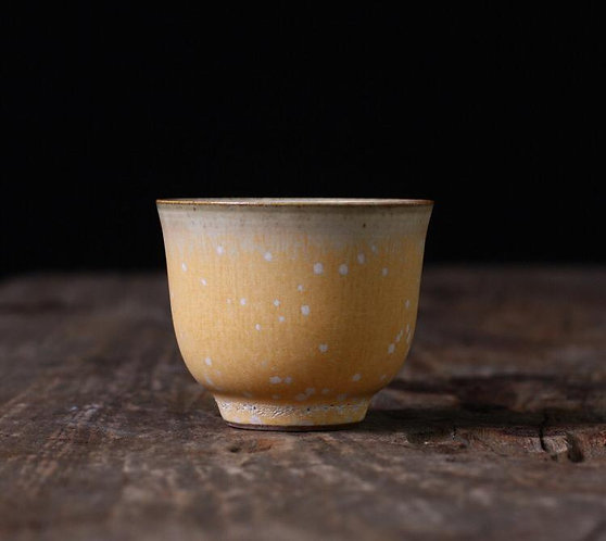 Wood Fired Sunset Snow fall Teacup