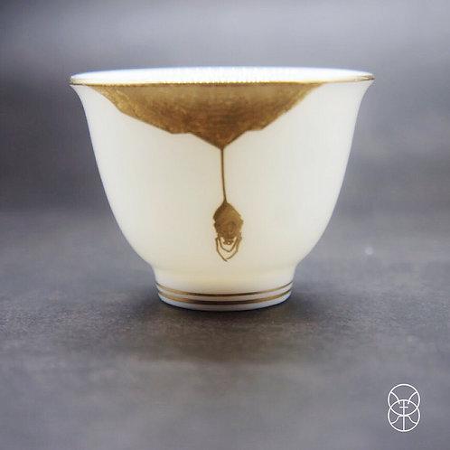 Shino Glaze Spider Tea Cup