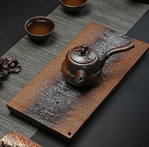 Plum Blossom Clay Tea Tray