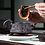 Thumbnail: Yixing Zisha Aged Purple Clay Phoenix & Dragon Romance Teapot (340ml)