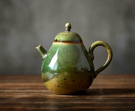 Green Forest Woodfired Teapot
