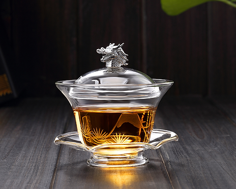 Dragon Head Glass Gaiwan