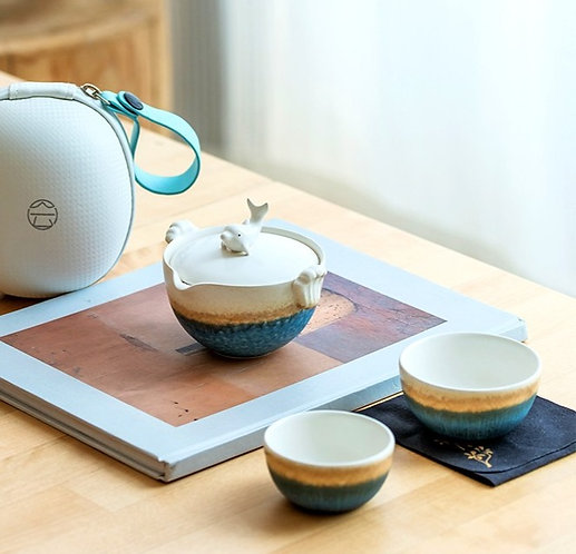 Sailing with Dolphin Easy Gaiwan Travel Set (150ml)