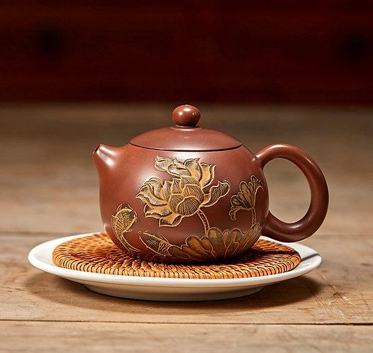 Crimson Lotus Nixing Red Clay Teapot