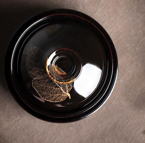 Autumn Gold Bohdi Leaf Gaiwan (150 ml)