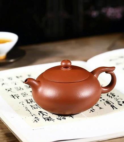 Yixing Zisha Clear Clay BianyuXishi Teapot  (255ml) (Name Carving)
