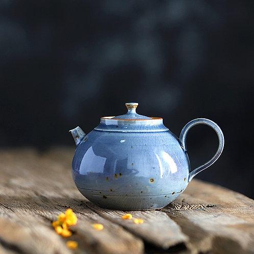 Woodfired Soda Blue Teapot