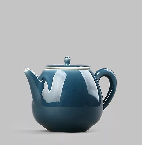 Moon Blue Glazed Teapot (80ml)
