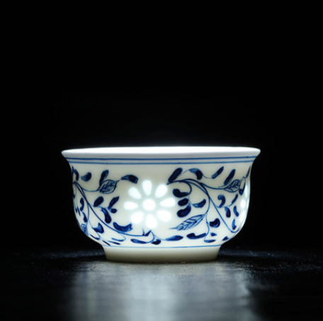 Antique Blue Linglong Teacups