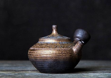 RustyBronze Coarse Clay Side Handle Teapot