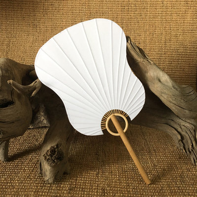 Canvas Bamboo Fan