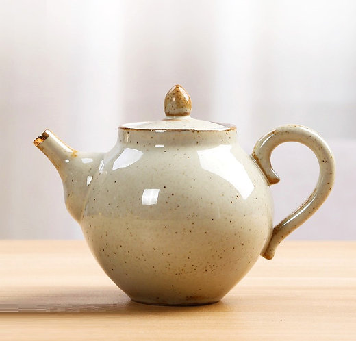 Gold Ring Cannon Teapot