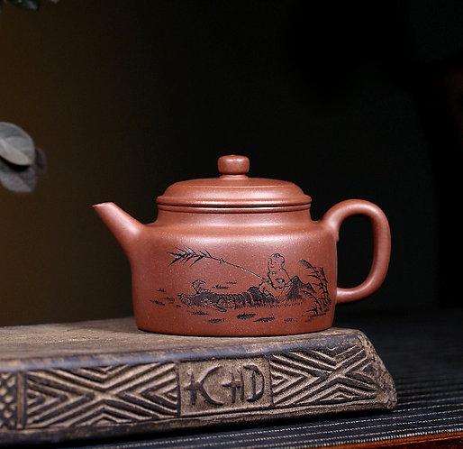 Yixing Zisha Base Clay Herding Boy Teapot (270ml)
