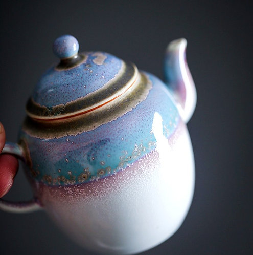 Sugar Rainbow Woodfired Teapot