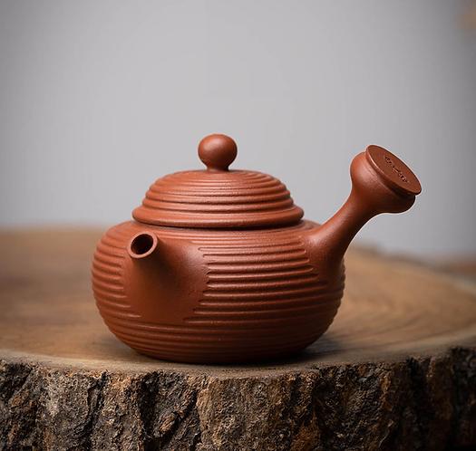 Zisha Zhu Clay Thousand Layers Chiu Chow Teapot (125ml)