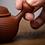 Thumbnail: Zisha Zhu Clay Thousand Layers Chiu Chow Teapot (125ml)