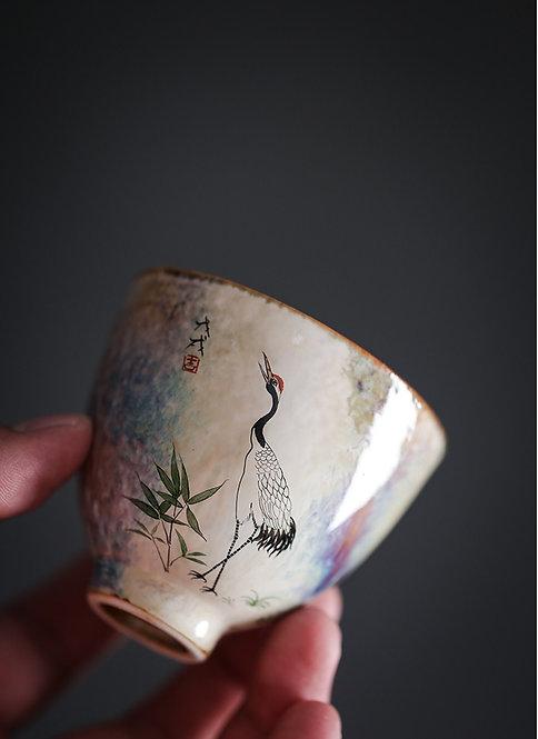 Wood Fired Crane Teacup