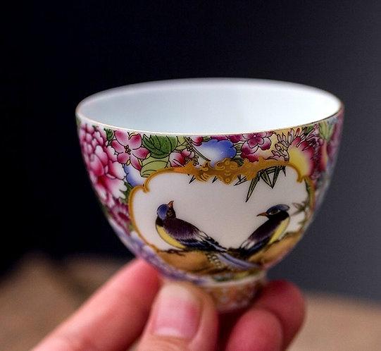 Cloisonné Thousand Flower Teacup
