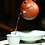 Thumbnail: Yixing Zisha Pear Skin Red Clay Dragon Pearl  Teapot (245ml) (Name Carving)
