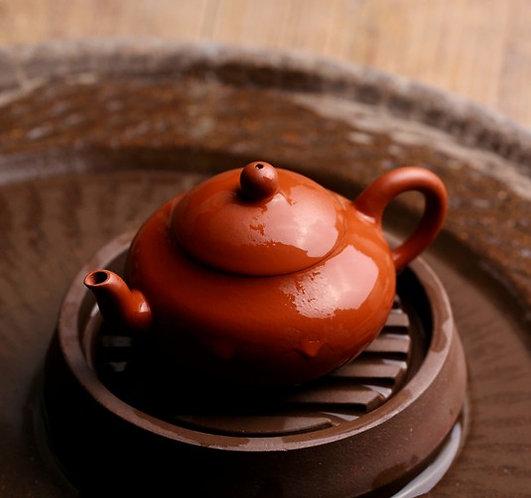 Zisha Zhu Clay Red Boat Chiu Chow Teapot (100ml)