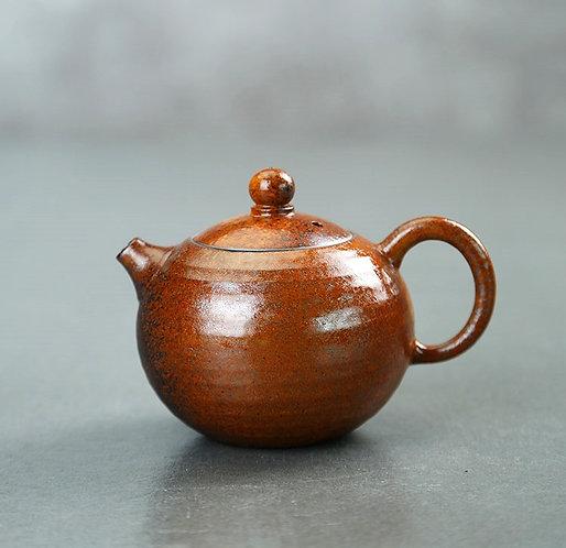 Red Leaf Coarse Clay Xi Shi Teapot