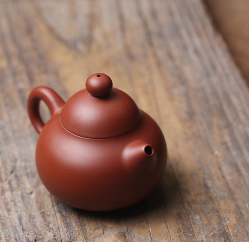 Zisha Zhu Clay Mini Pear Chiu Chow Teapot (110ml)