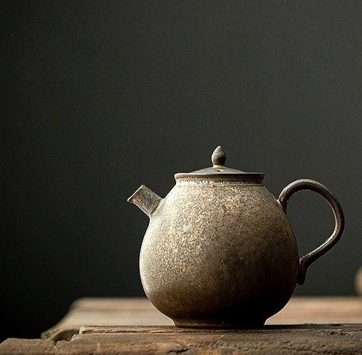 RustyBronze Coarse Clay Teapot
