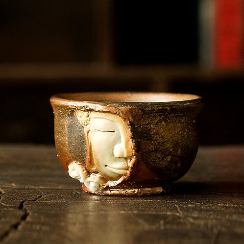 Leshan Giant Buddha Woodfired Teacup