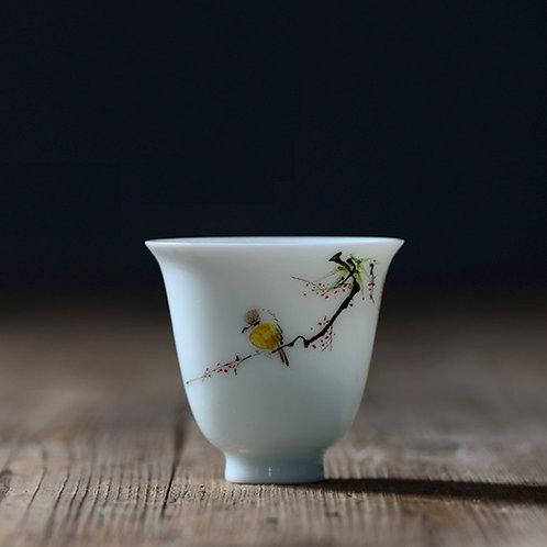 Docile Magpie Tea Cups