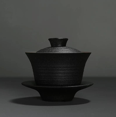 War Horse Jianshui Zitao Black Clay Gaiwan (150 ml)