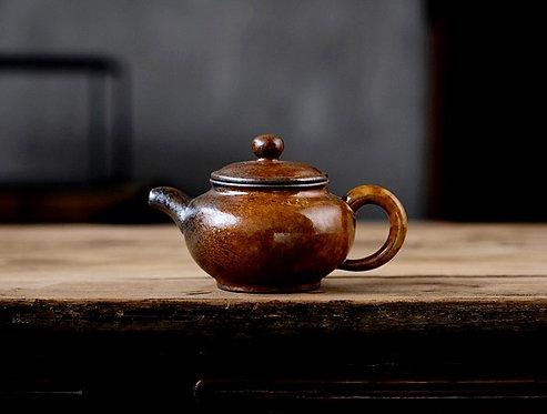 Red Salamander Purple Clay Teapot