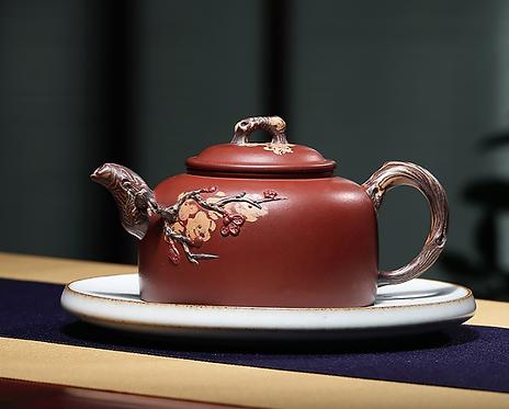 Yixing Zisha Base Clay Ancient Arbor Teapot (540ml)