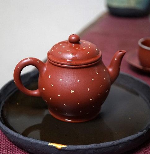 Yixing Zisha Zhu Clay Gold Sand Imperial Lantern Teapot (155ml)